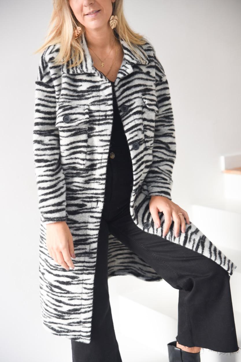 casacão zebra cinza