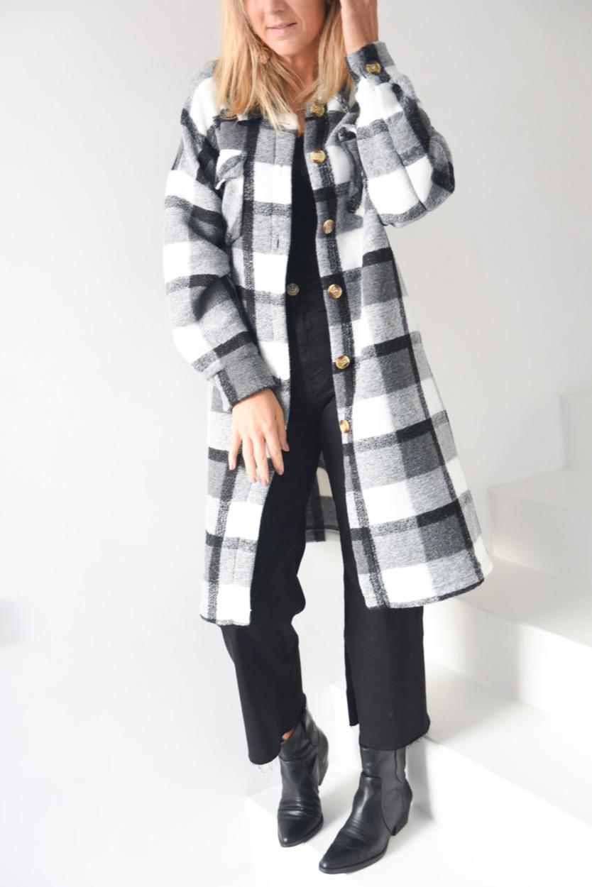 casacão quadrados cinza