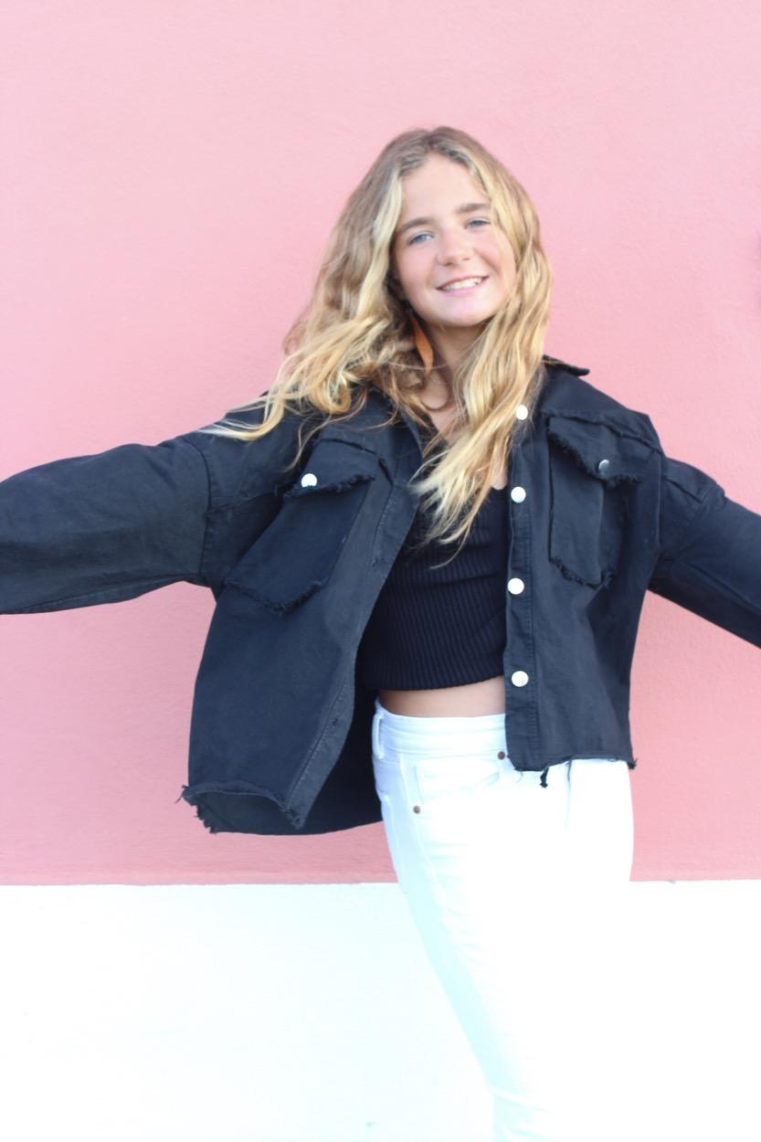 casaco sarja preto