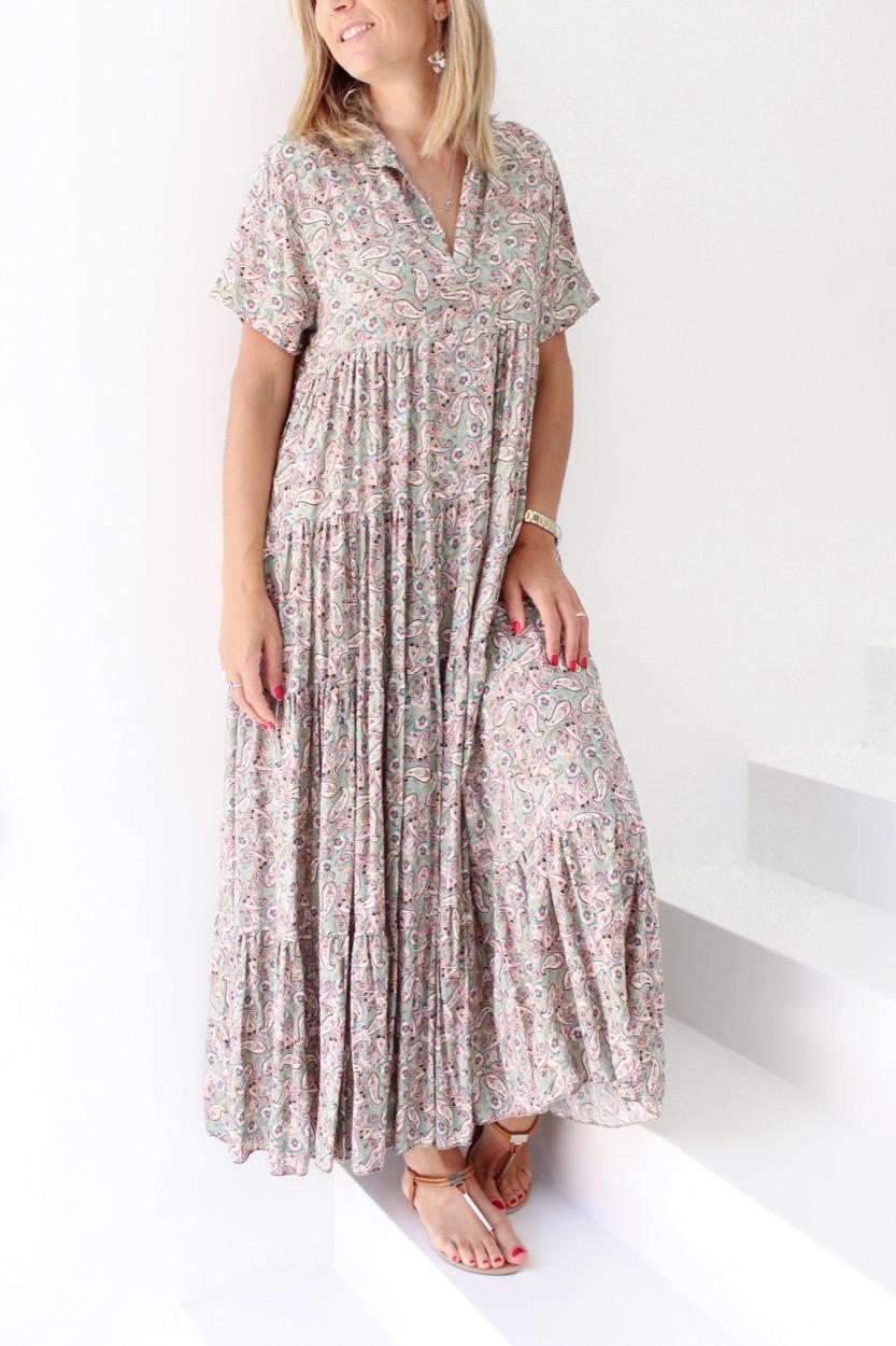 vestido comprido cornucópias