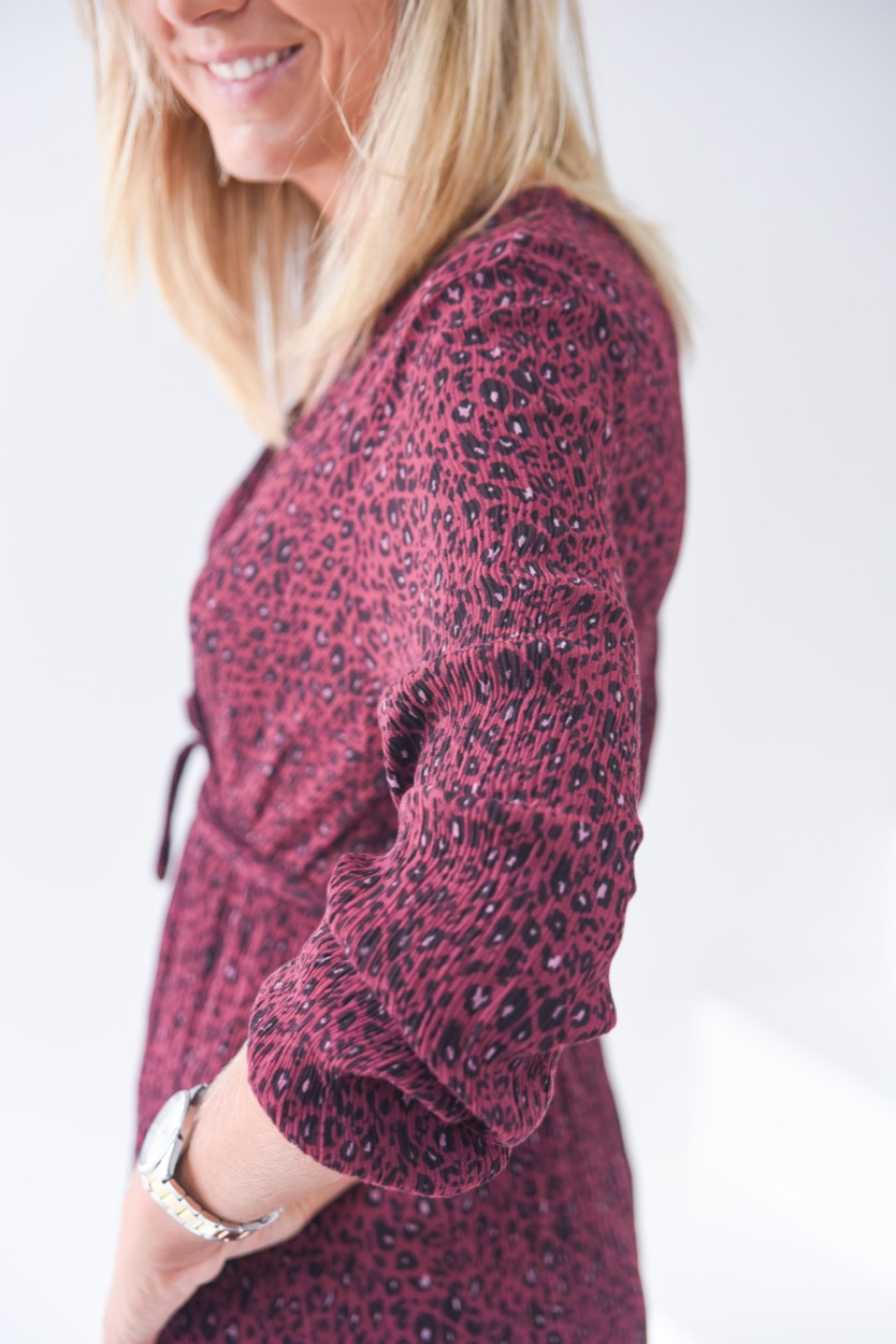 Vest animal enrrugado rosa