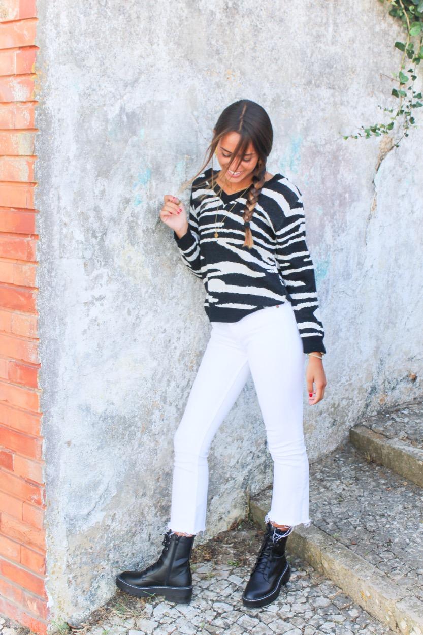 camisola zebra dec v preto