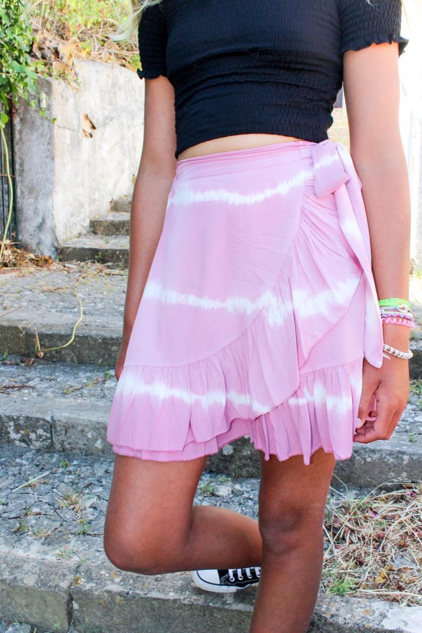 saia curta TD traçar rosa