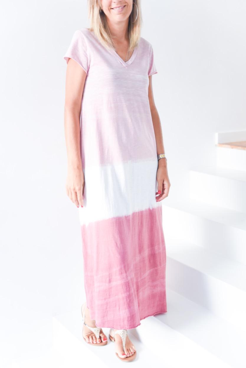 vestido tie dye multicolor rosa/ rosa