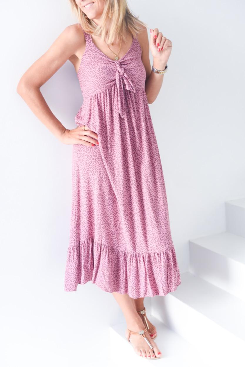 vestido animal nó rosa