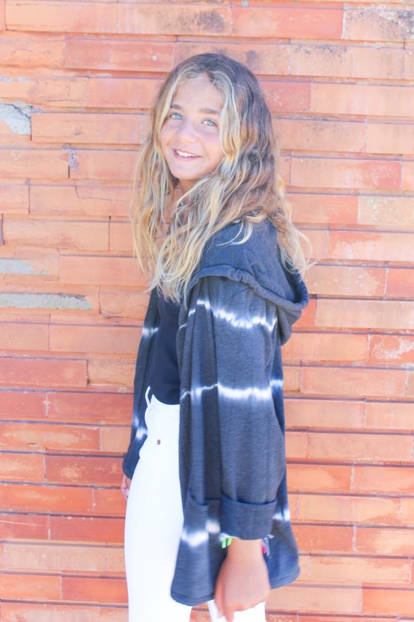 casaco algodão tiedye chumbo