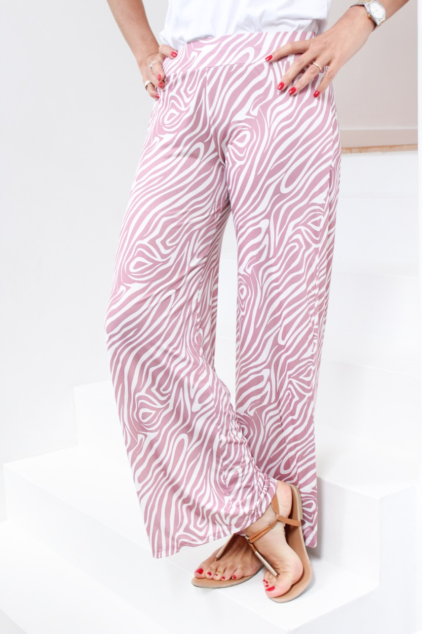 calças rosa zebra