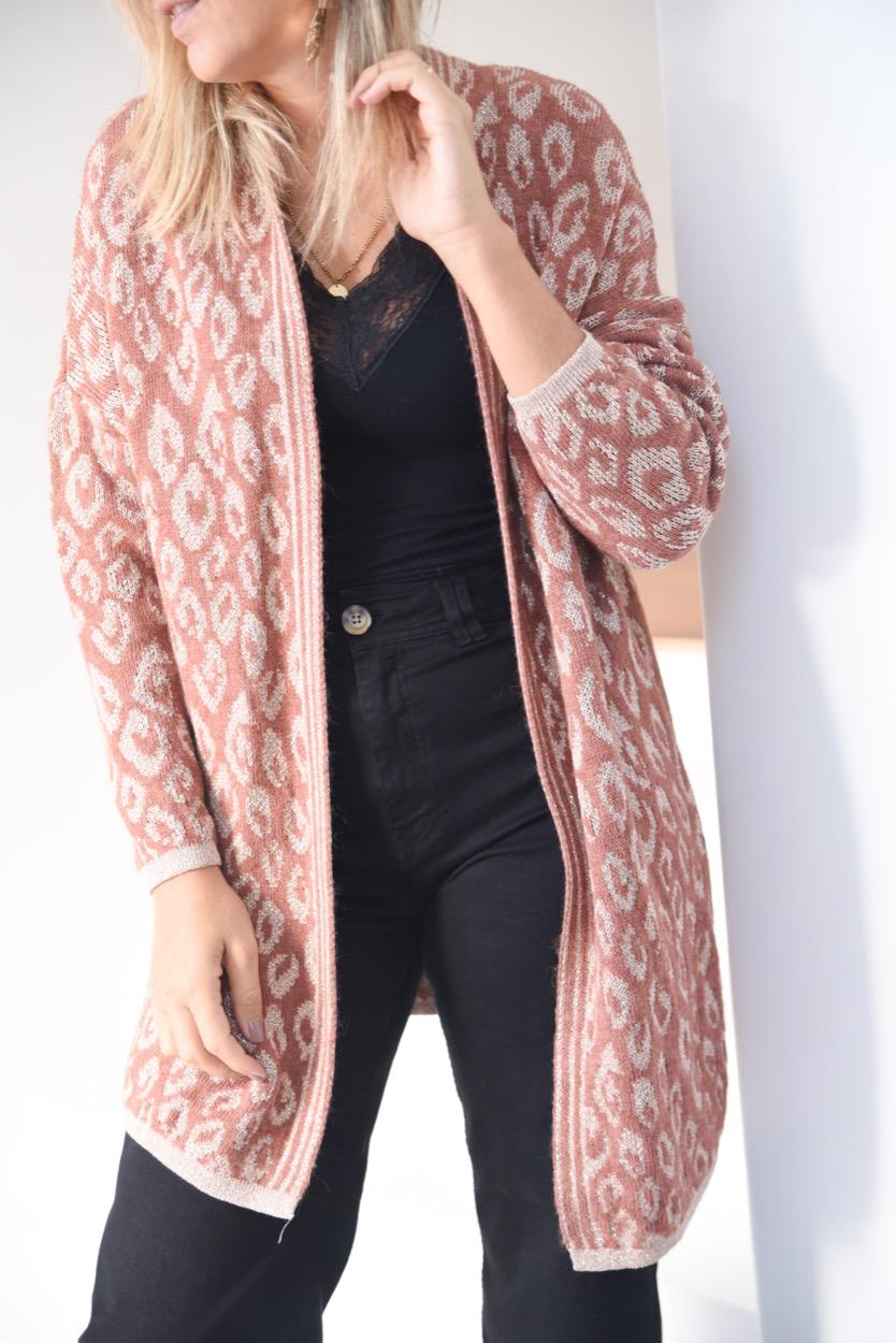 casaco animal brilhantes tijolo