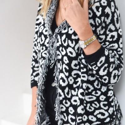casaco aberto leopardo