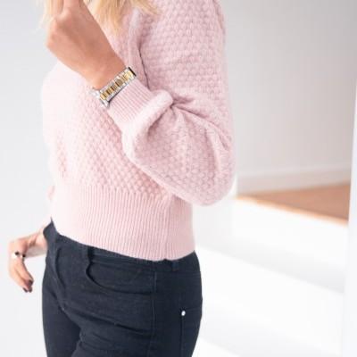 camisola favos rosa