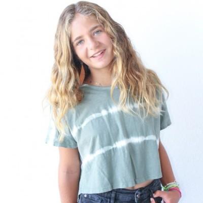 t-shirt tiedye curta verde seco
