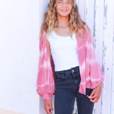kimono tie dye rosa