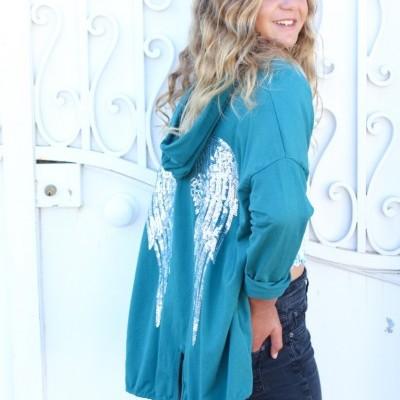 casaco asas verde