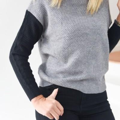 camisola manga preta