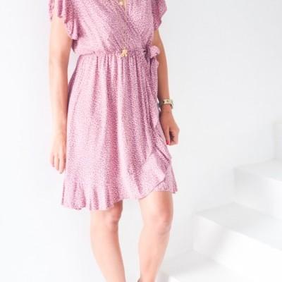 vestido traçar curt anima rosa