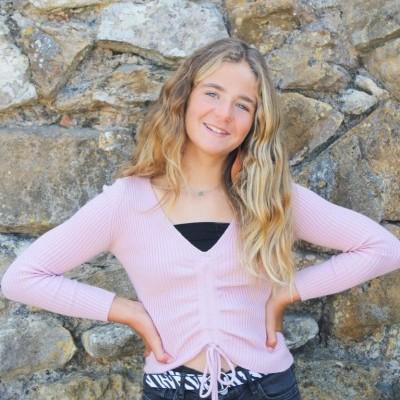 camisola canelado franzida rosa