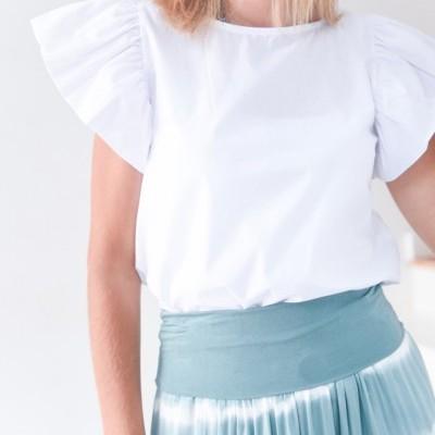 blusa folho manga