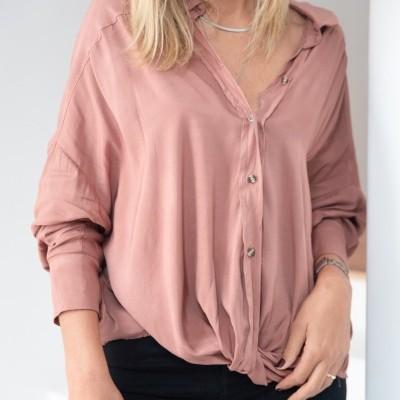 blusa volta frente rosa velho