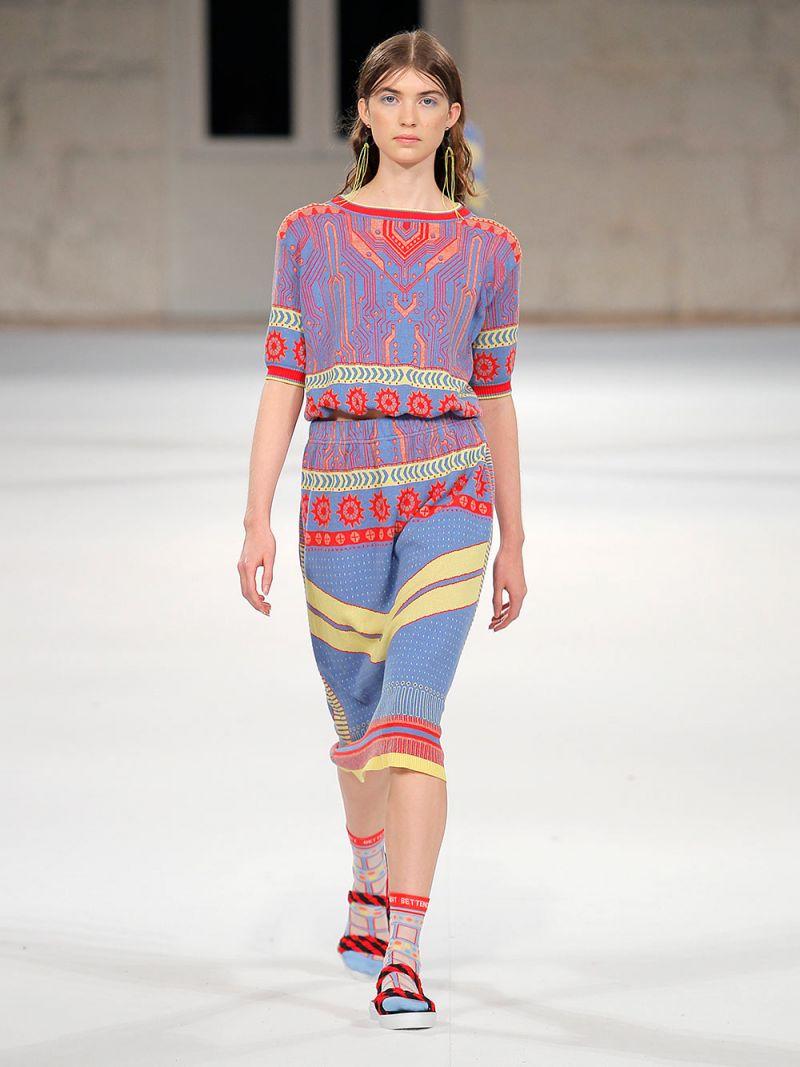 T-shirt em Malha Jacquard com Nervuras - SUSANA BETTENCOURT