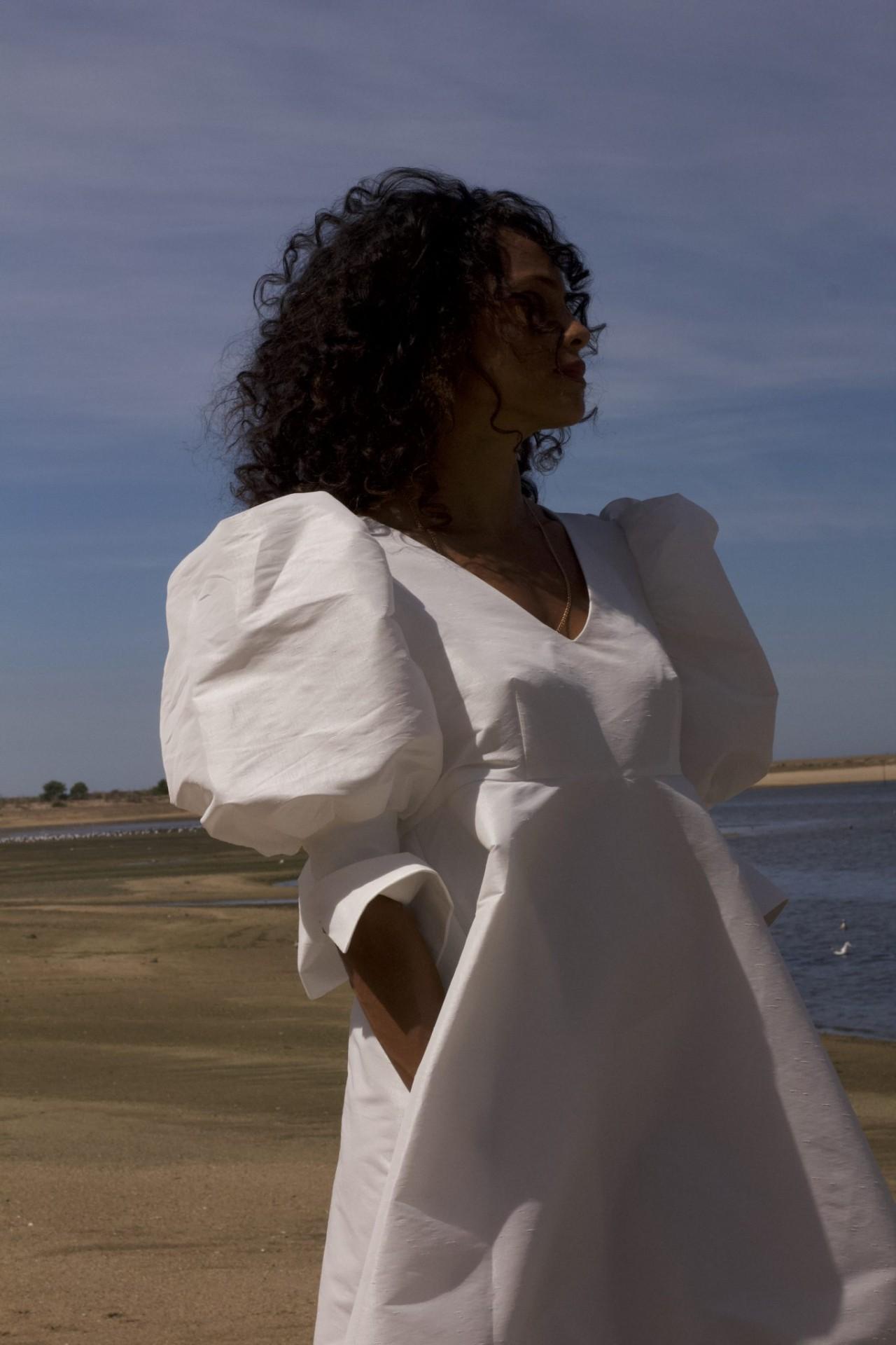 MISSES DIANA DRESS - MISSES WHITE
