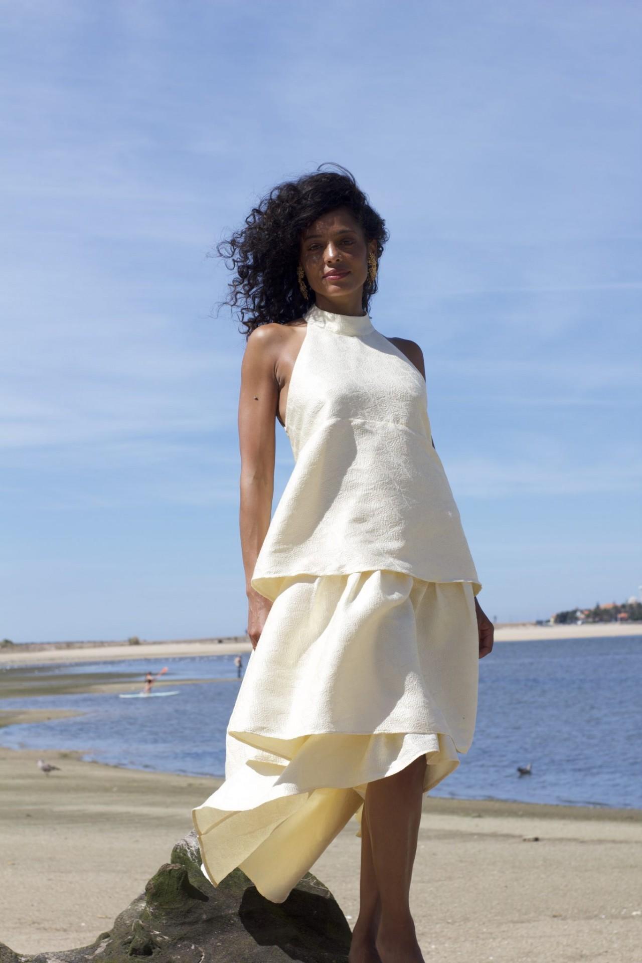 MISSES OFF-WHITE DRESS - MISSES WHITE
