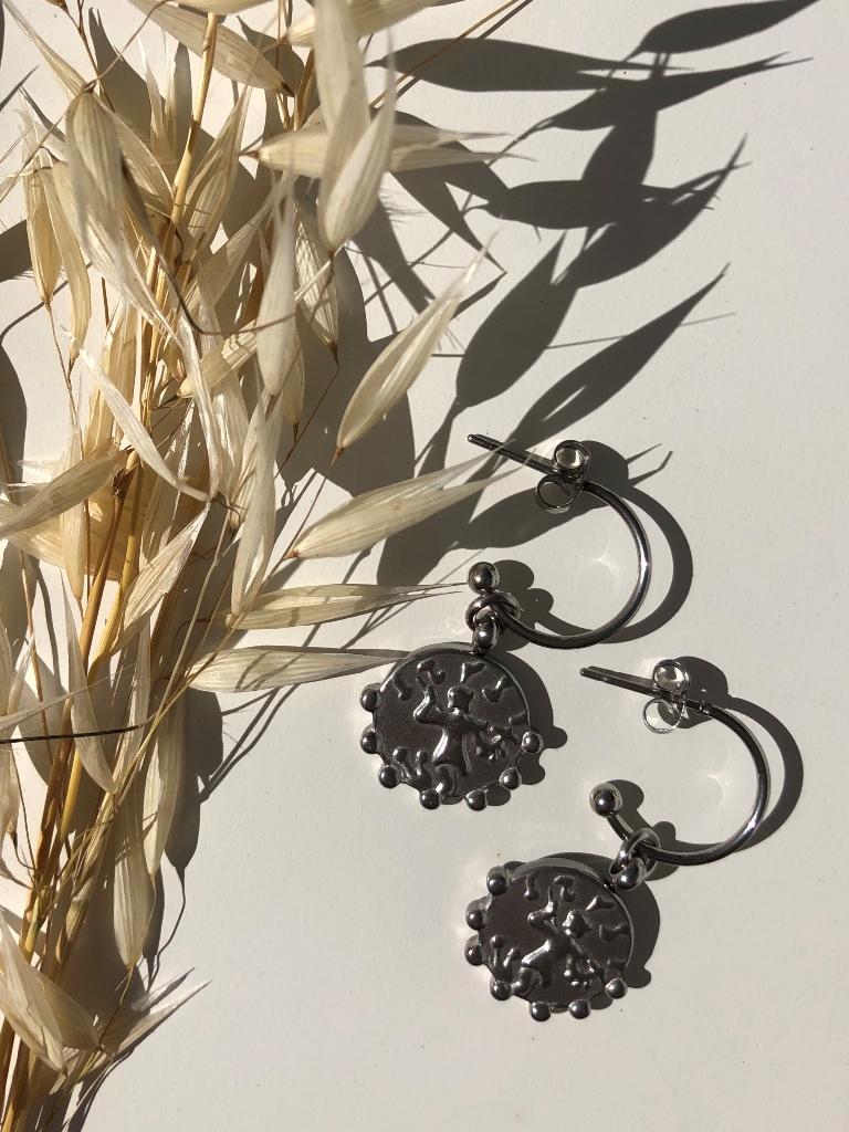 Gardenia Earrings (Silver) - ACTO DESIGN