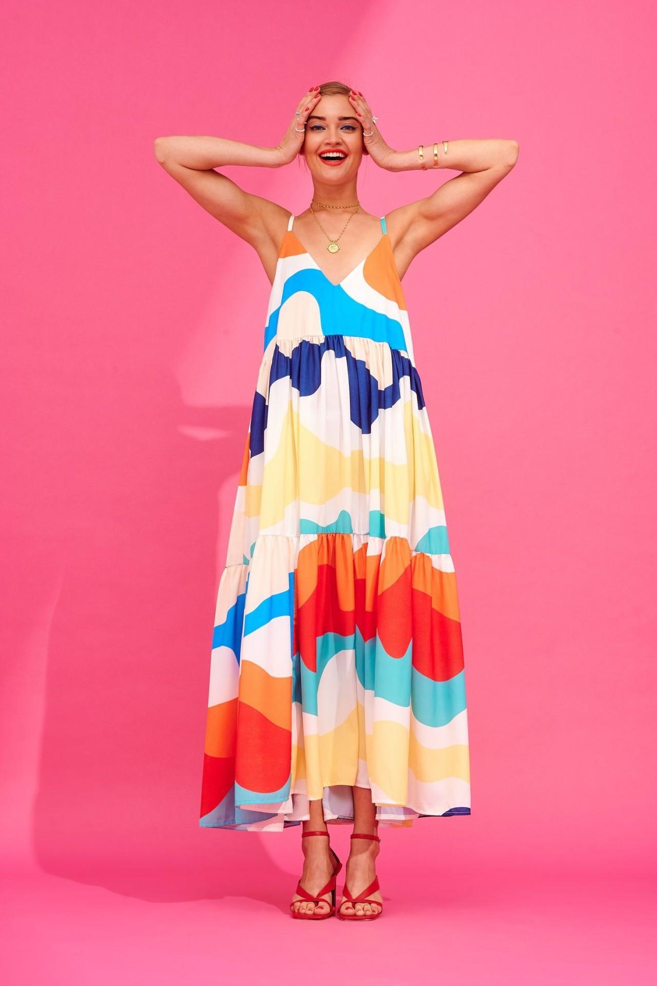 IDA DRESS (ABSTRACT) - KARAVAN CLOTHING
