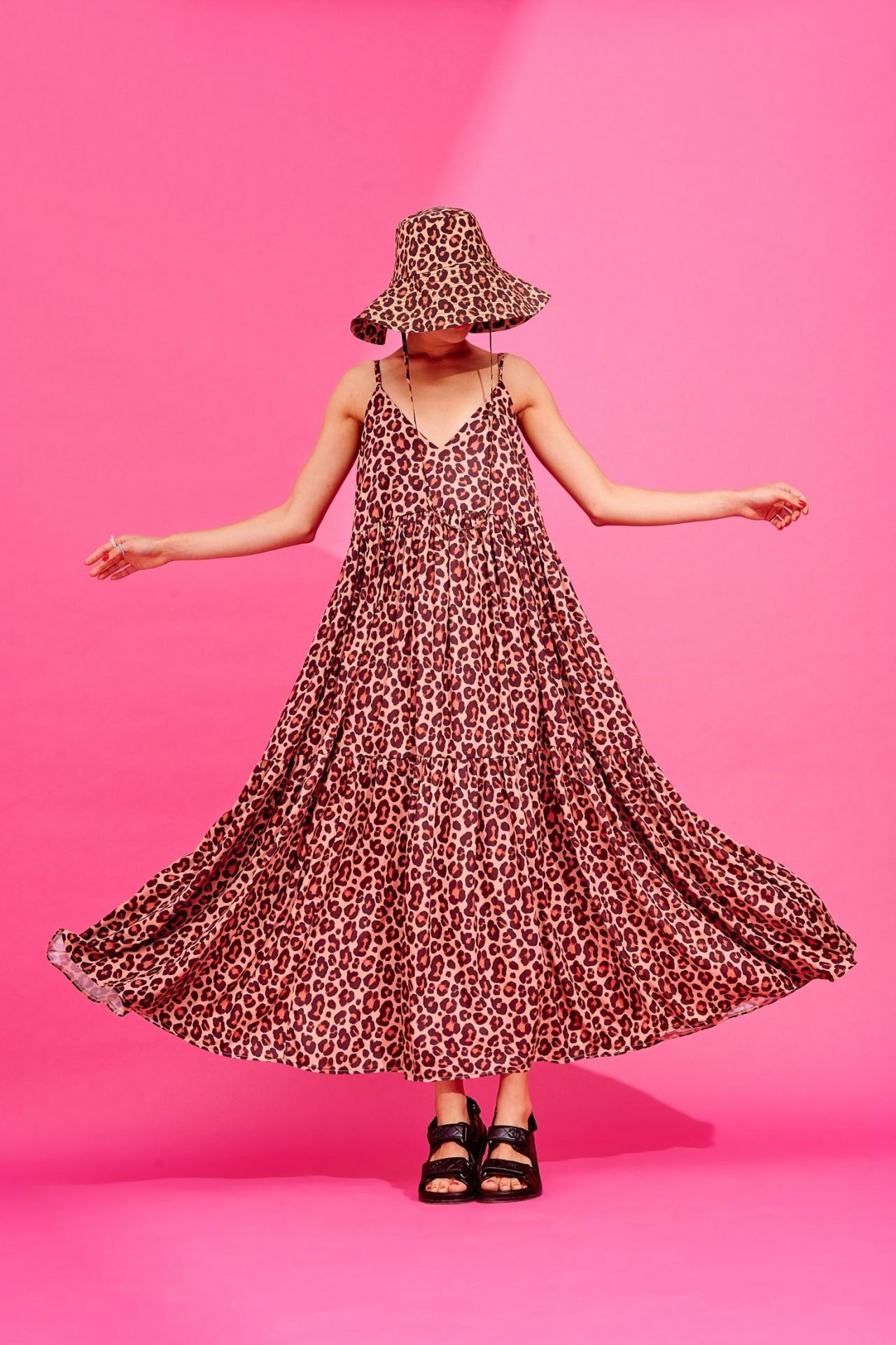 IDA DRESS (LEOPARD) - KARAVAN CLOTHING