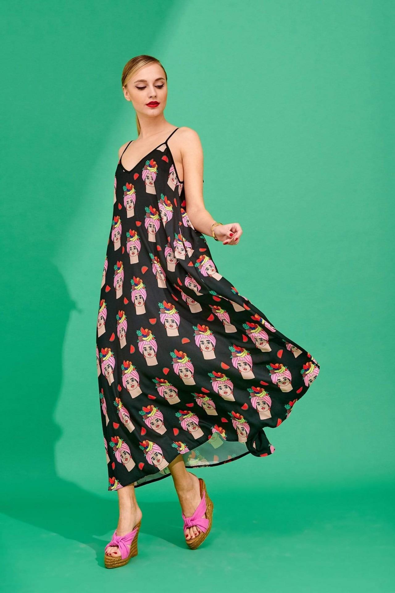 TATI DRESS (BLACK) - KARAVAN CLOTHING