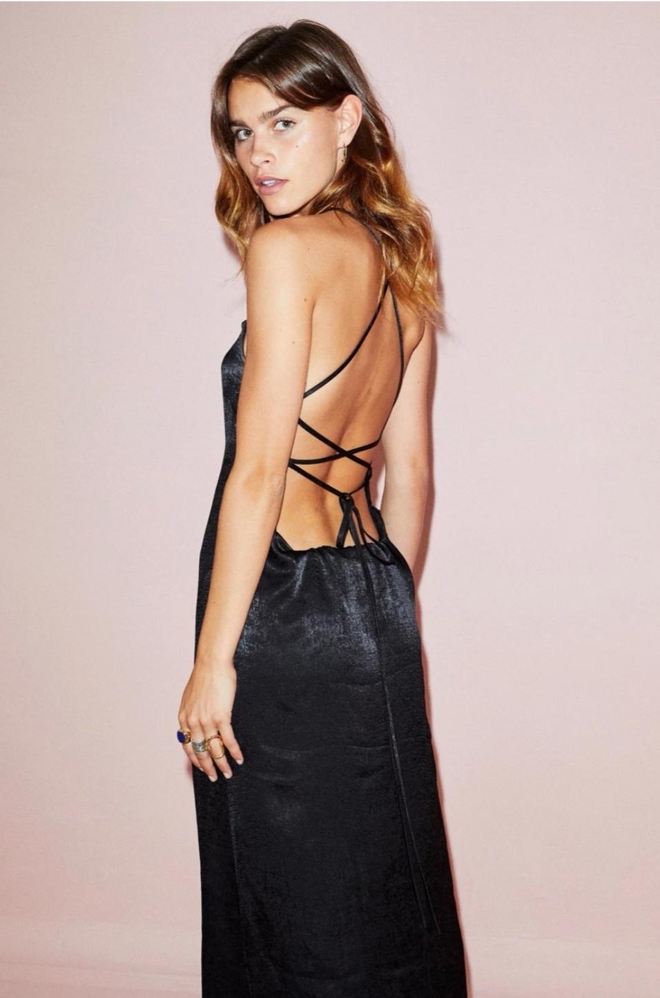 Black Maxi Kate Dress - NEVER FULLY DRESSED