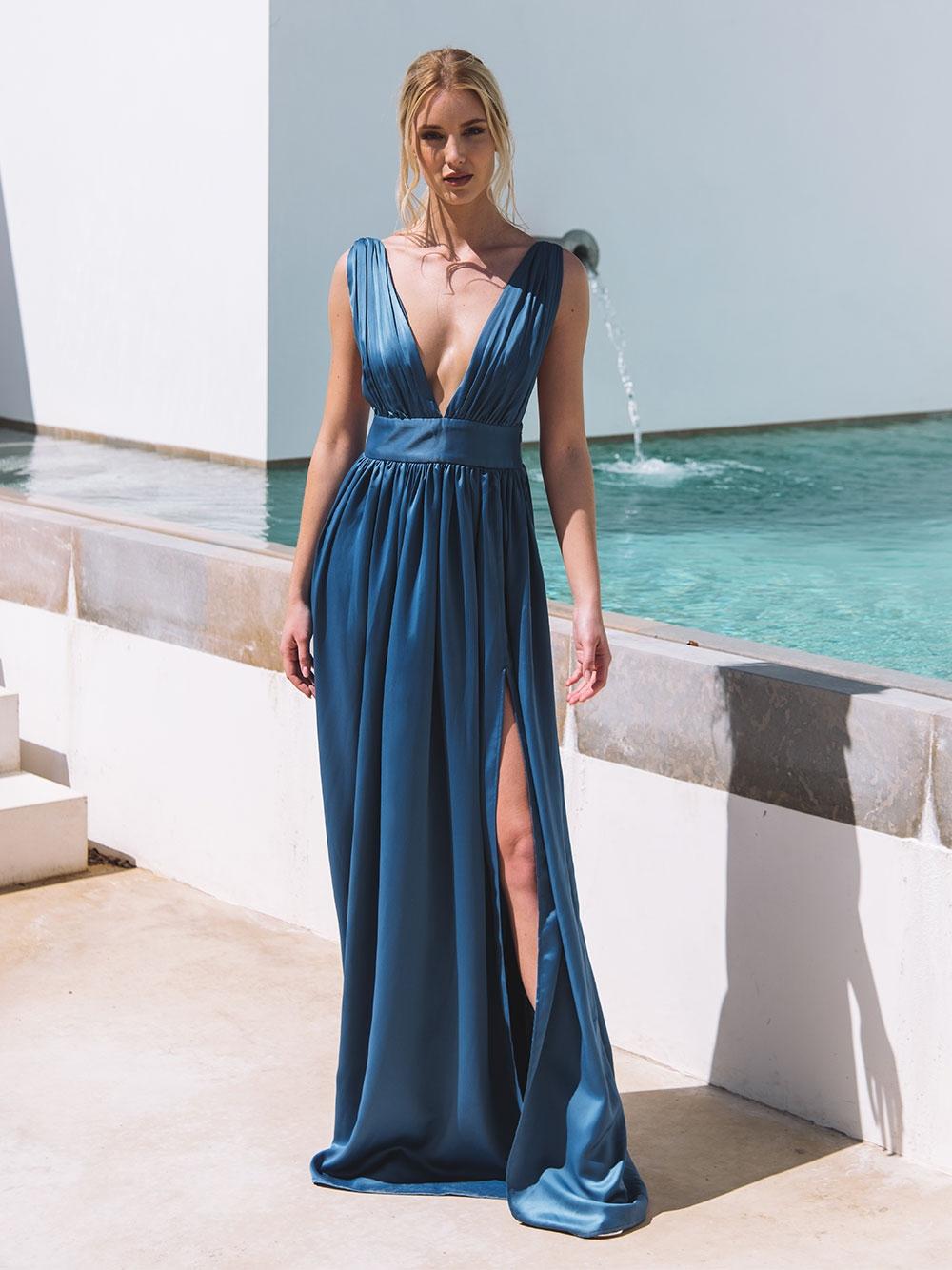 Vestido Comprido Azul - KAOÂ