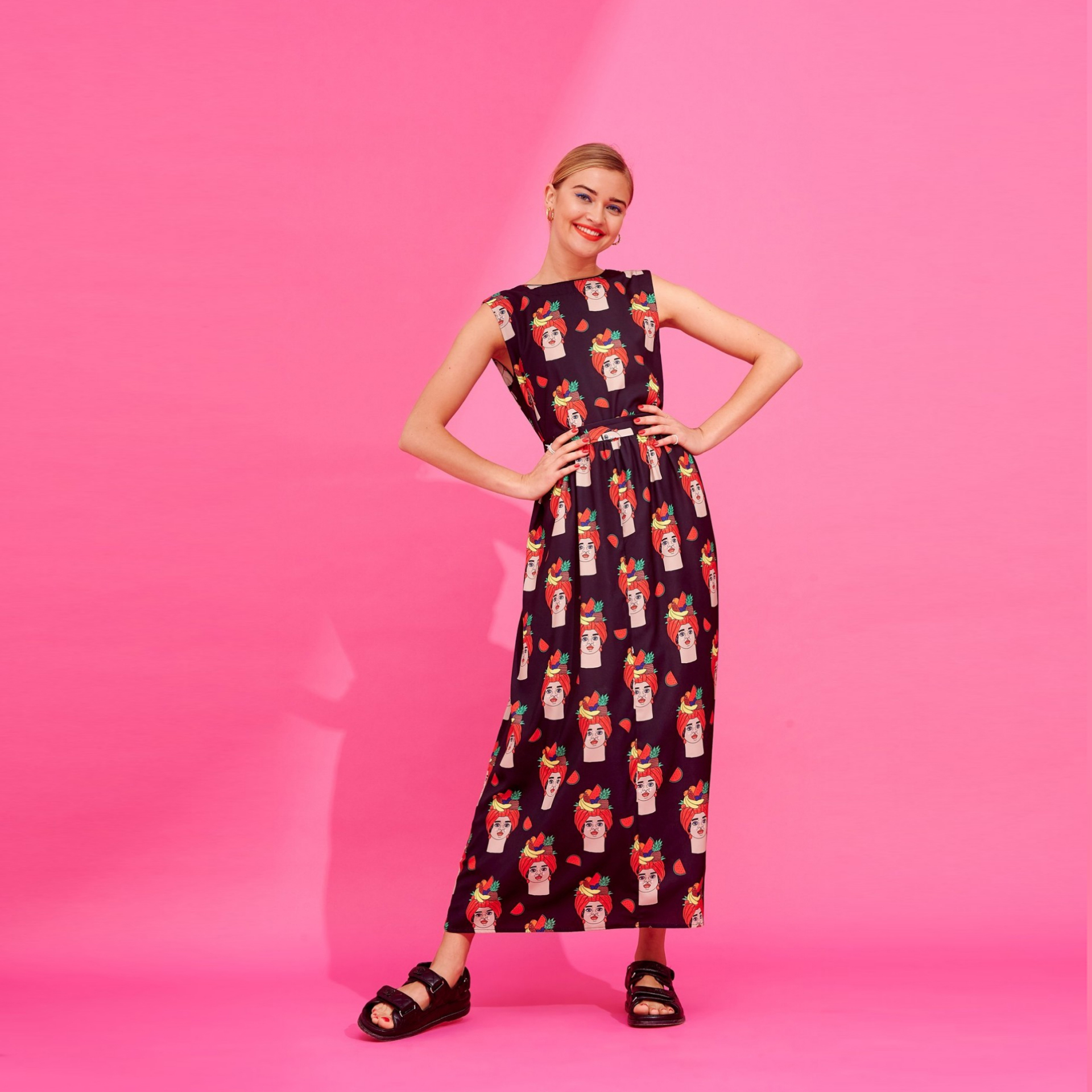 ANNINA DRESS (BLACK) - KARAVAN CLOTHING
