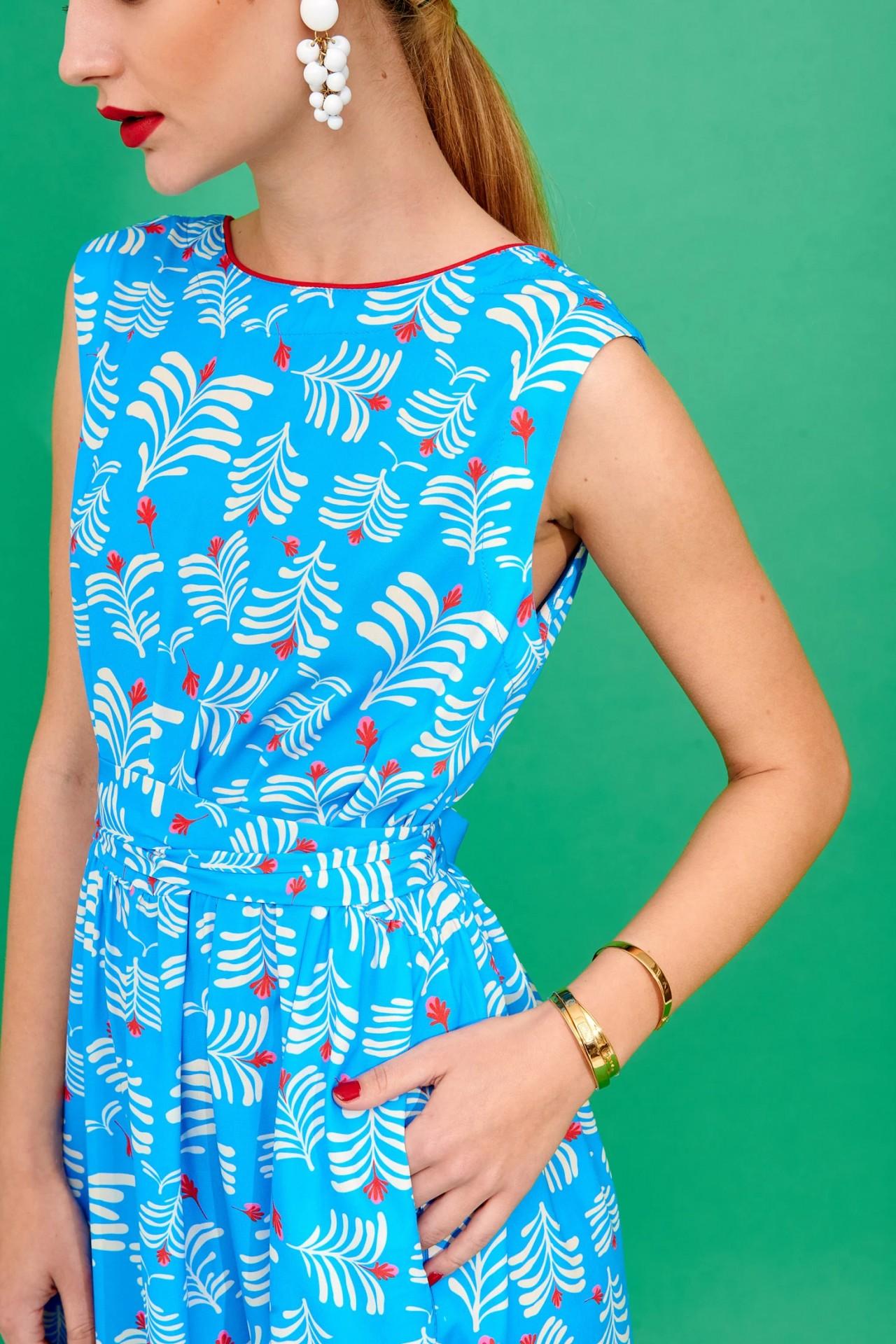 ANNINA DRESS (TURQUOISE) - KARAVAN CLOTHING