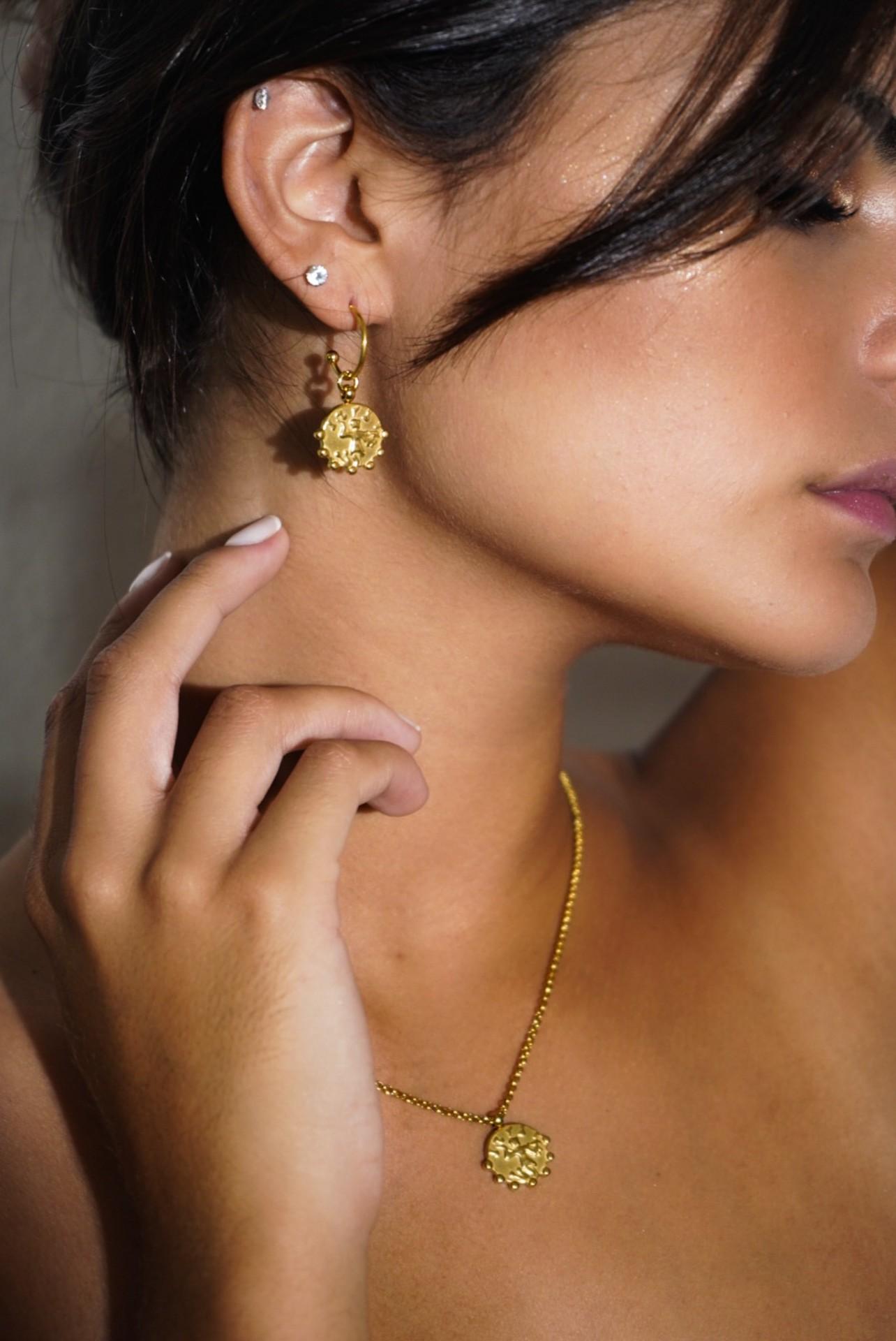 Gardenia Earrings (Gold) - ACTO DESIGN