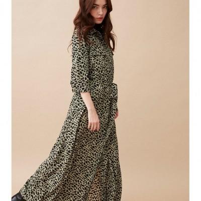 LONG DRESS WOOD SAUGE - WILD PARIS