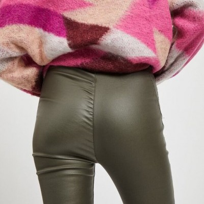 COATED LEGGINGS FOREST NIGHT - OBJECT