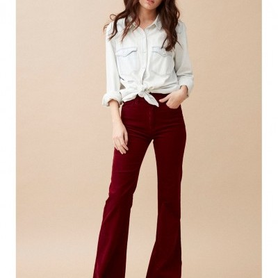 TROUSERS VICTORIA BURGUNDY - WILD PARIS