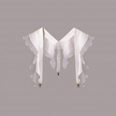 Ruffle Suspenders - MISSES WHITE