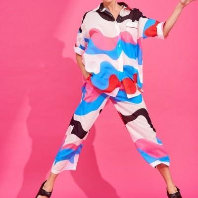 LOLA SHIRT (ABSTRACT) - KARAVAN CLOTHING