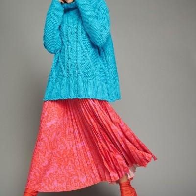 VERONICA SWEATER (TURQUOISE) - KARAVAN CLOTHING