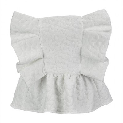 MISSES WHITE & SILVER BOW TOP - MISSES WHITE