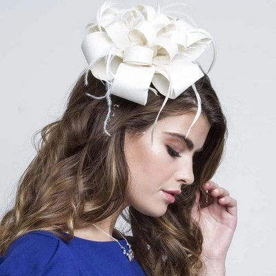 STATEMENT CREAM FASCINATOR - Johnny Loves Rosie