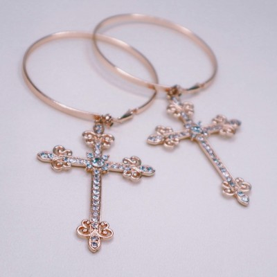 Big Cross Hoops - 39a Brand