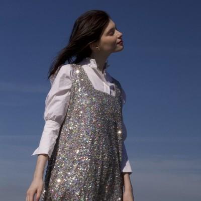 MISSES SEQUINS DRESS - KARAVAN CLOTHING