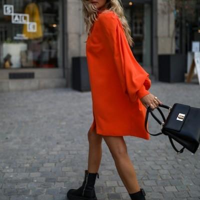 Vestido casaco laranja - KAOÂ
