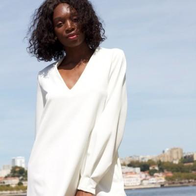MW V DRESS - MISSES WHITE