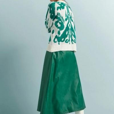 Hazel Skirt Green - KARAVAN CLOTHING