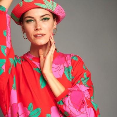 BOBBIE HAT (PEONIAS RED) - KARAVAN CLOTHING