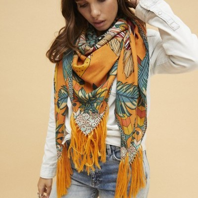 SCARF ARA YELLOW - WILD PARIS