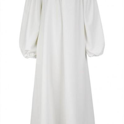 MW OFF-SHOULDER DRESS - MISSES WHITE